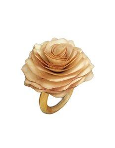 Kit porta guardanapos com flor em madeira - 6 peças (escolha a cor da flor do seu kit)