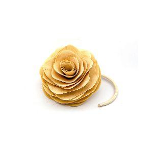 Flores em Madeira com Cordão Difusor - Tamanho Pequeno - 8cm