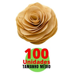 Kit Com Flores em Cordão Difusor - Tamanho Médio - 10cm com 100 unidades