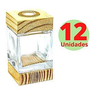 Vidro Cubo 100ml - 12 Unidades