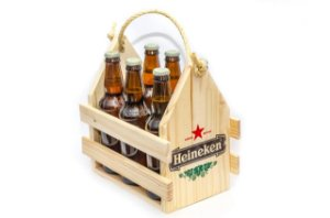 Engradado Pinus para Bebidas - Heineken