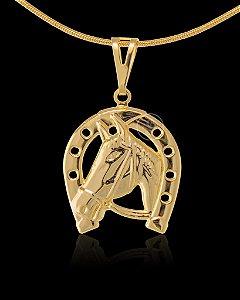 Pingente Ferradura - 2,3 X 2,7cm - Banhado a ouro 18k