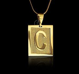 Pingente com Letras - Disponível de A a Z - Banhado a ouro 18k