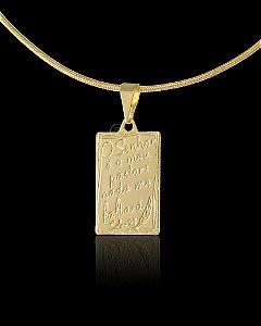Pingente  O Senhor É Meu Pastor - 1,2 X 2cm - Banhado a ouro 18k