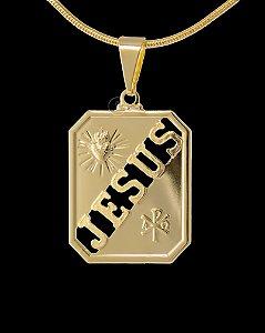 Pingente Jesus Vazado Diamantado - 1,9 X 2,4cm - Banhado a ouro 18k