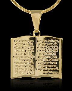 Pingente  Biblia Aberta  - 2,5 X 3cm - Banhado a ouro 18k