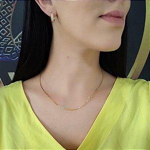 Corrente Veneziana Grossa - Fecho Boia  (MM) - 45cm - 5g - Banhado a ouro 18k