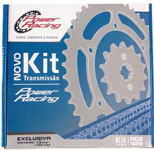 KIT TRANSMISSÃO FAN125 2009 - Power Racing