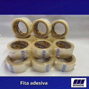 Fita Adesiva Acrílica Transparente MI-AC40 45mm X 100m Kit 60 Peças