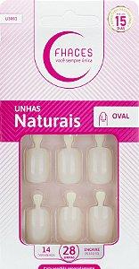 Unhas Fhaces Natural Oval - 28 unhas