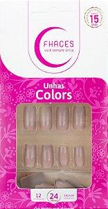 Unhas Fhaces Colors Nude - 24 unhas