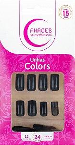 Unhas Fhaces Colors Marrom - 24 unhas