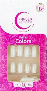 Unhas Fhaces Colors Pérola - 24 unhas