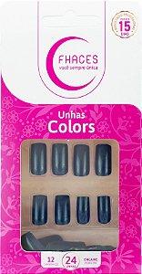 Unhas Fhaces Colors Indigo Blue - 24 unhas