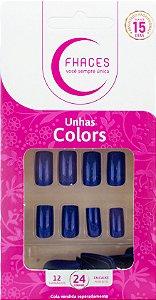 Unhas Fhaces Colors Jeans - 24 unhas