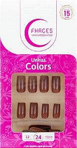 Unhas Fhaces Colors Calda de Chocolate - 24 unhas