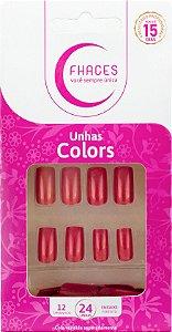 Unhas Fhaces Colors Discretamente Fashion - 24 unhas