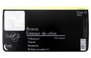 Unhas Tips Branca Fhaces C/500 und