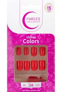 Unhas Fhaces Colors Clown - 24 unhas