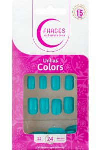 Unhas Fhaces Colors Tiffany - 24 unhas