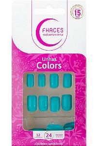 Unhas Fhaces Colors Tiffany - 24 unhas