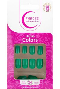 Unhas Fhaces Colors Acqua - 24 unhas