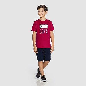 Camiseta masculina Flamê com aplicações interativas