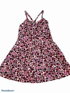 Vestido Estampado com Fundo Rosa - Kely Kety