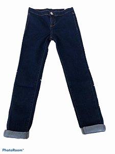 Calça Jeans Infantil Menina Skinny Com Elastano Hering Kids - Azul