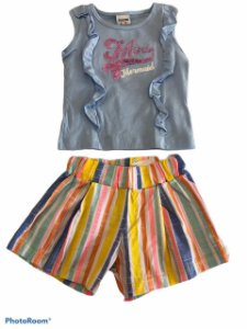 CONJUNTO REGATA E SHORT MERMAID - FAKINI KIDS