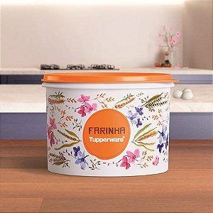 Tupperware Caixa de Farinha Floral 1,8kg