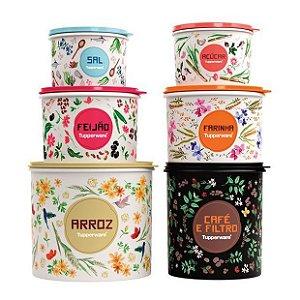 Tupperware Conjunto Caixa Floral 6 Pecas