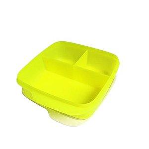 Tupperware Basic Line 550ml Com Divisórias Verde Neon