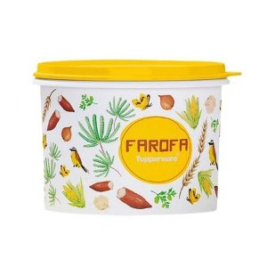 Tupperware Caixa de Farofa Floral 1,1 Litros