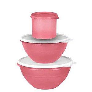 Tupperware Kit Tigela Maravilhosa Rosa Puce