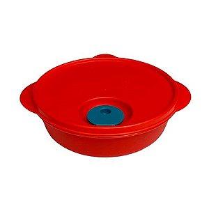 Tupperware Cristalwave Redondo 1 Litro Vermelho