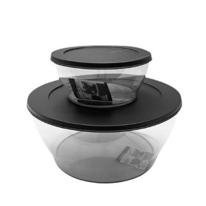 Tupperware Kit Tigelas Clear Policarbonato 2 Pecas