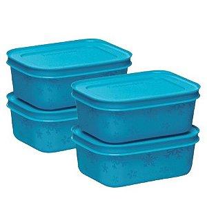Tupperware Kit Freezer Line 4 Pecas