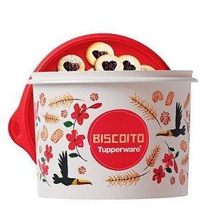 Tupperware Caixa Biscoito Floral 2,4 Litros