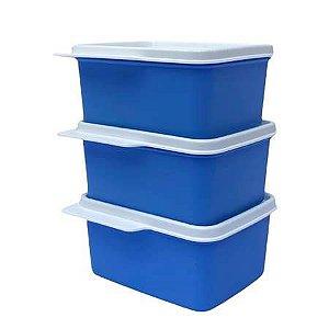 Tupperware Kit Basic Line 500ml Azul