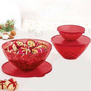 Tupperware Tigelas Prisma Policarbonato Vermelha