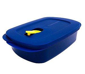 Tupperware Cristalwave Retangular 1 Litro Azul