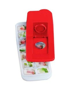 Tupperware Forma de Gelo Vermelha 14 Cubos
