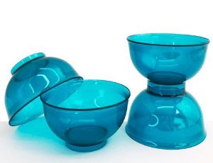 Tupperware Tigela Cristal 250ml Policarbonato Azul