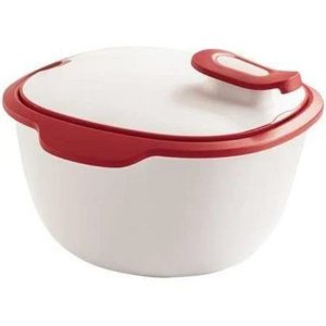 Tupperware Travessa Thermo Tup 2,4 Litros Branca e Vermelha