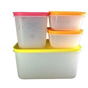 Tupperware Freezer Line 4 Pecas
