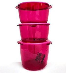 Tupperware Cristalwave Plus Redondo 3 Pecas