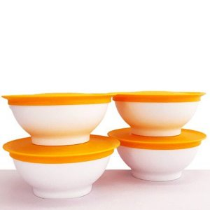 Tupperware Tigela Allegra 275ml Laranja 4 Pecas Importada