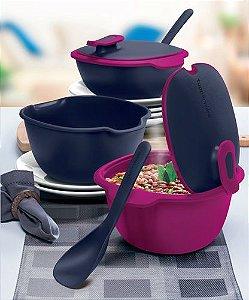 Tupperware Travessa Thermo Tup com Colher 2 Pecas Rosa e Roxa