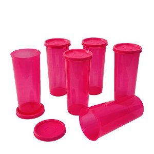 Tupperware Copo 300ml Rosa 6 Pecas